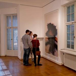 "Installation view of the Rocketograme ""Raphael Safir"" at 8. Darmstädter Tage der Fotografie 2014. Picture © Christian Engels."