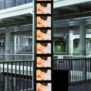 """drinking"", 2000/2001, 8 channel Videoinstalation, HfG Karlsruhe"