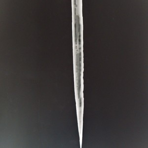 untitled / icicle, 2007, ca. 110x60cm, B/W Photogram, unique