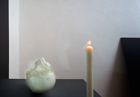 """""""skull and candle / after Gerhard Richter"""", 2012, ca. 100x140cm, C-Print analog, 2+1 AP"""