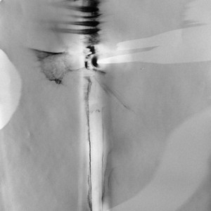 """Sword No.1"", 2007, ca. 60x50cm, B/W Photogram, unique"