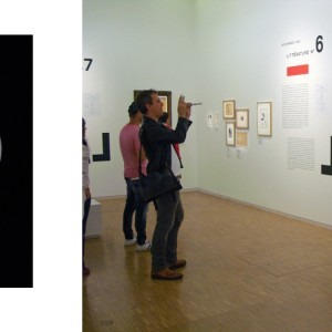 """""""MRAY1"""", ongoing seria, ca. 30x24cm, Lambdaprint, 1+1 AP / right picture: documentation view during work process in Man Ray exhibition at Centre Pompidou, Paris 2014"""
