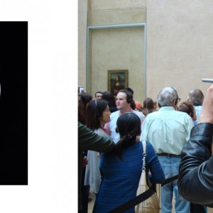 """""""ML6"""", ongoing seria, ca. 30x24cm, Lambdaprint, 1+1 AP / right picture: documentation view during work process at the Louvre, Paris 2014"""