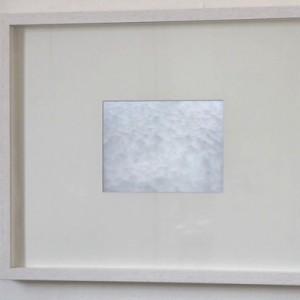 """Snowcloud"", 14,5×19,5 cm retina dispaly in objectframe"
