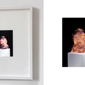"""""""Study of a notion no.1"""", Full HD Video, loop, no sound, left picture: Video on 19,5 x 14,5 cm display in object frame"""