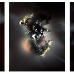 """""""UC I triptych no.2″, 2016, je ca. 120x90cm, photogram on colorfilm/C-Print analog, 2+1 AP"""
